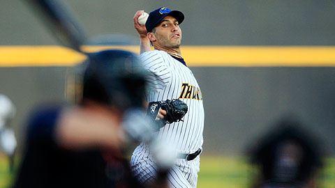 Andy Pettitte threw 59 of his 81 pitches for strikes at Double-A Trenton.